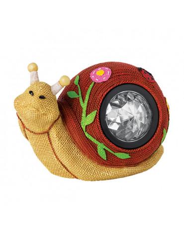 Садовый светильник WOLTA GARDEN Knitsnail,полирезина/полипропен 17см (Улитка)