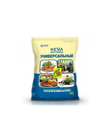 Почвогрунт универсальный с биогумусом   5л KEVA BIOTERRA
