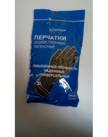Перчатки хоз.латексные, черные M UN-WJHDB6008