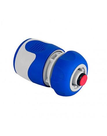 Коннектор с аквастопом для шланга 19мм(3/4), пластик, TPR GWHC20-060 GREEN APPLE