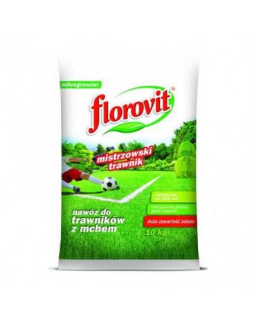 Удобрение гранулированное для газонов с большим содержанием железа  10кг FLOROVIT