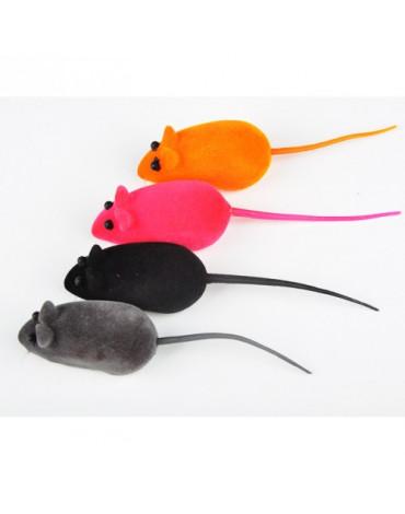 Мышь бархатная 6см, микс цветов 313238