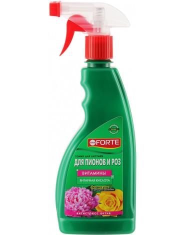 Спрей тоник для роз, пионов и красивоцветущих кустарников 500мл BONA FORTE