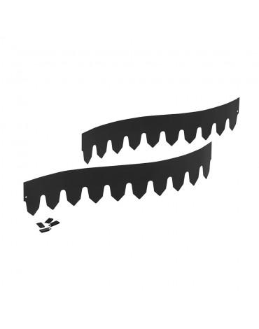 Бордюр металлический Классик/4*1м чёрный