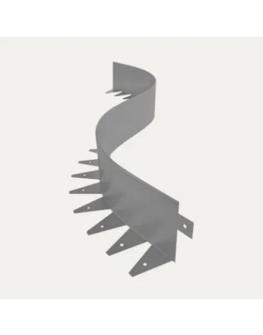 Бордюр металлический Флекс/1*1,2м Цинк