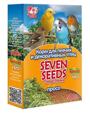"Корм ""Seven Seeds""для птиц, просо 500гр 1078699"