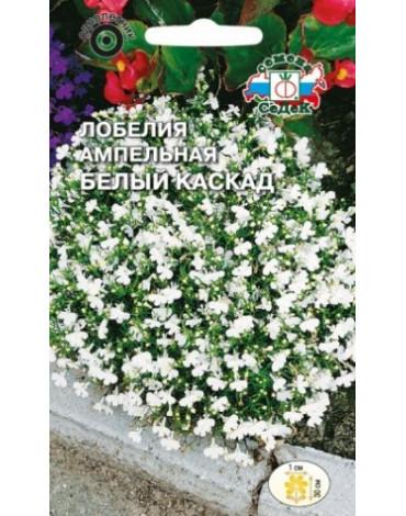 Лобелия Белый Каскад ампельная (Седек)