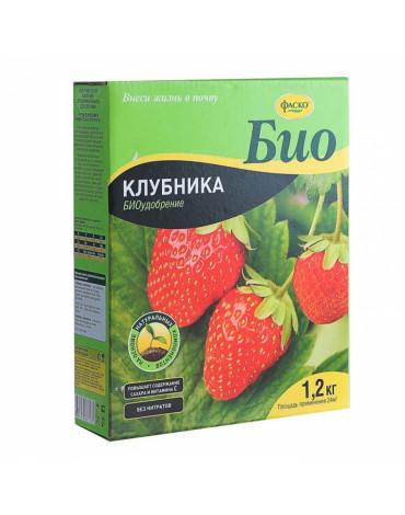 Удобрение сухое БИО Клубника гранулированное 1,2кг Фаско