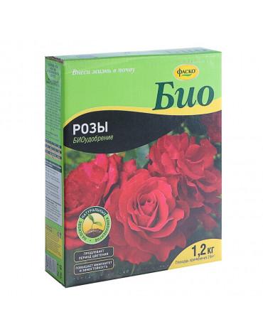 Удобрение сухое БИО Розы и цветущие многолетники гранулированное 1,2кг Фаско
