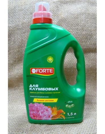 Жидкое комплексное удобрение для клумбовых цветов и розовых гортензий 1,5л BONA FORTE
