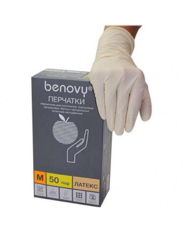 Перчатки BENOVY Chlorinated latex Хлор,M8