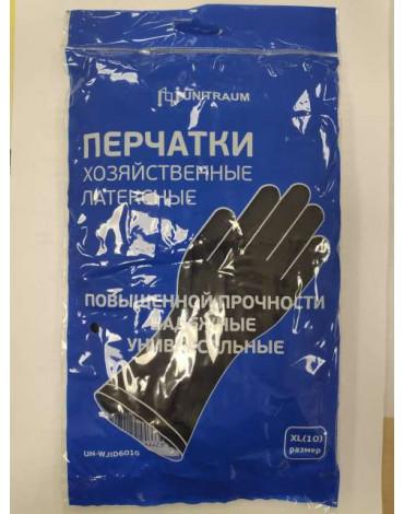 Перчатки хоз.латексные, черные XL UN-WJHDB6010