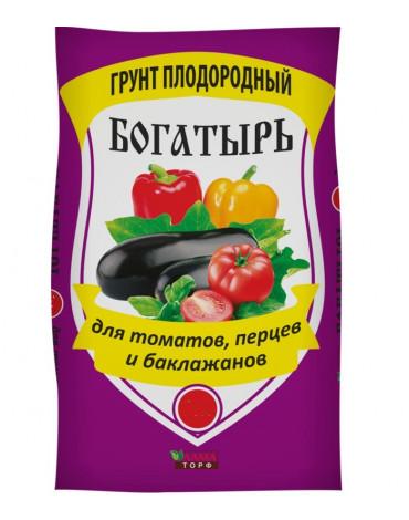 """Плодородный грунт Богатырь""""Для томатов, перца и баклажанов""""  20л Лама Торф"""