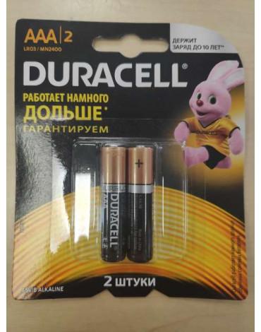 Элемент питания Duracell LR03-2BL  BASIC