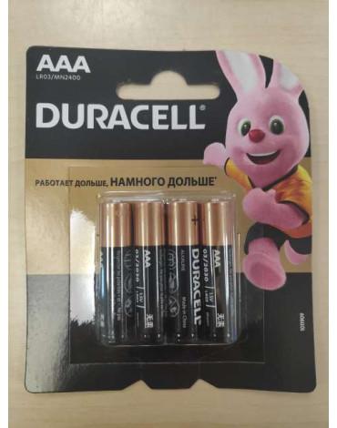 Элемент питания Duracell LR03-4BL  BASIC