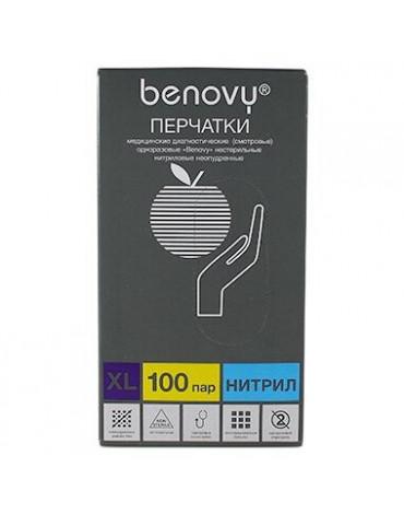 Перчатки BENOVY Chlorinated ЭКОНОМ (W-MMNFTB) L9