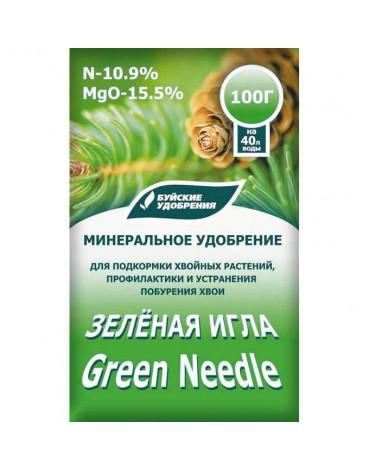 """Удобрение для хвойных растений""""Зелёная игла"""" 100гр водорастворимое"""