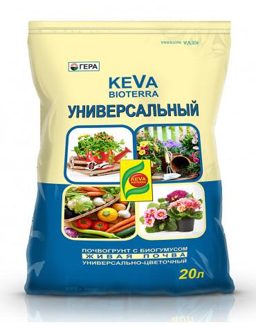 Почвогрунт универсальный с биогумусом  20л KEVA BIOTERRA