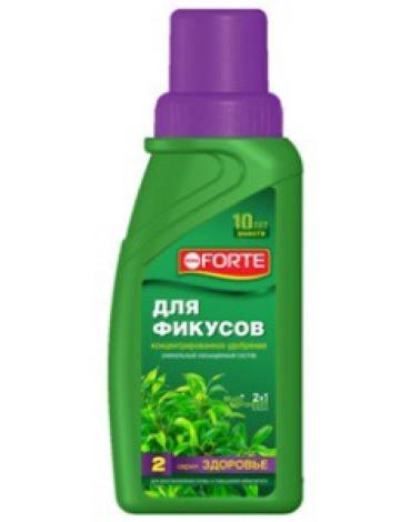 """Жидкое комплексное удобрение для фикусов и пальм """"Здоровье"""" 285мл BONA FORTE"""