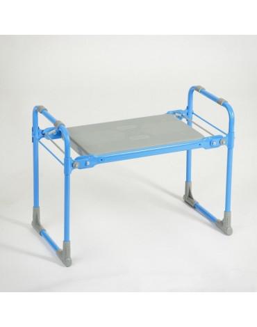 Скамейка перевёртыш садовая складная 56*30**42,5см,голубая(нагр 100кг) 3275882