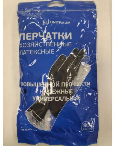 Перчатки хоз.латексные, черные S UN-WJHDB6007