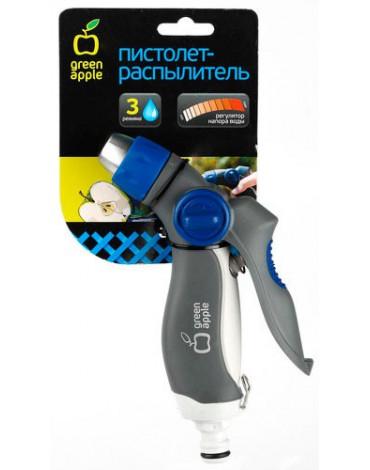 Пистолет - распылитель, пластик, регул. лат. форсунка, 3 режима GWHM20-040 GREEN APPLE