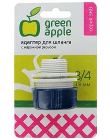 Адаптер  для шланга с наружной рез.19мм(3/4) GAEA20-12 GREEN APPLE