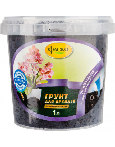 Грунт Цветочное счастье Орхидея  1л ведро ФАСКО